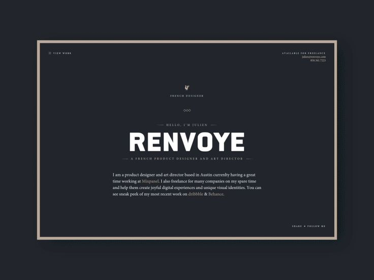 New Portfolio  by Julien Renvoye