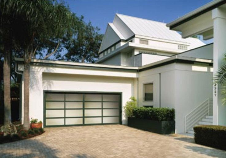 painted garage doors | contemporary glass