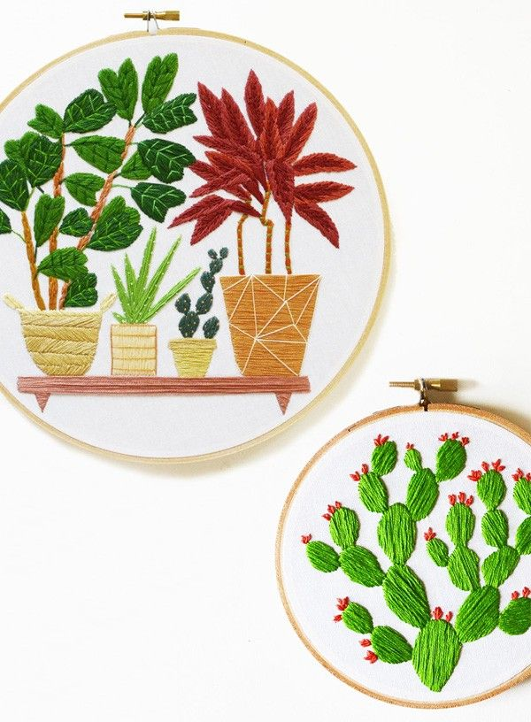Cross Stitch Plants by Sarah Benning