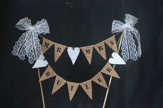 CUSTOM CAKE TOPPER  personalised Mr and Mrs wedding от SoLuvli