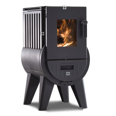 I really like this stove, but unfortunately it doesn't seem to be available in the UK at the moment. It's called an Iron Dog.