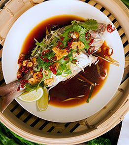 steamed fish with ginger and soy - Pete Evans Chef