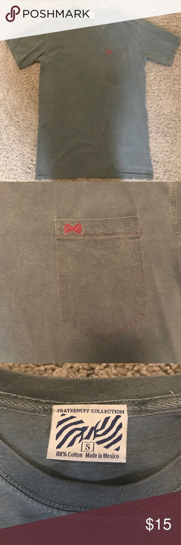 Fraternity Collection Tshirt Super soft and comfy, pocket with red emblem, size small but fits a little loose. Fraternity Collection Tops Tees - Short Sleeve