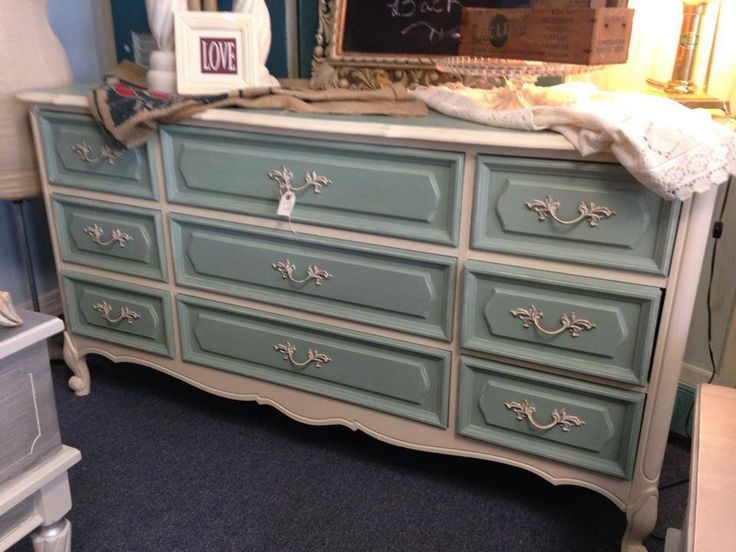 two tone painted furniture. chalk painted two tone french dresser furniture i