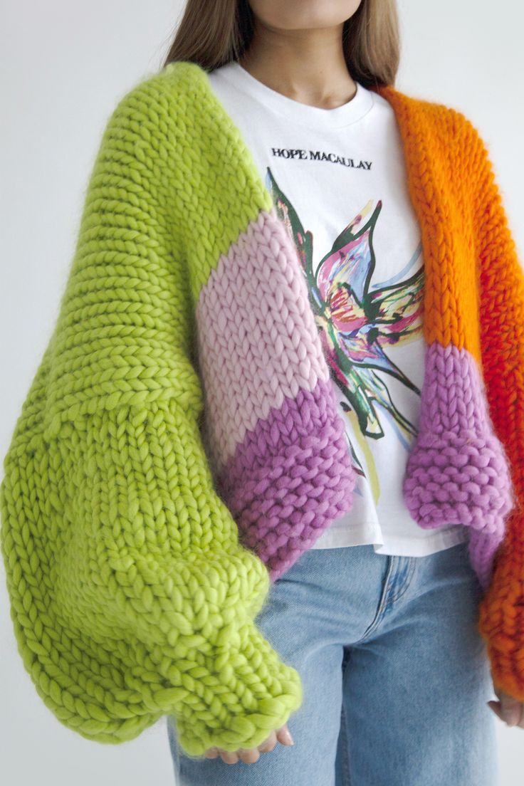 Chunky Knitwear, Chunky Knit Jumper, Crochet Cardigan, Oversized Knit Cardigan, Irish Fashion, Knit Fashion, Rachel Green, Katie Holmes, Pink Suit