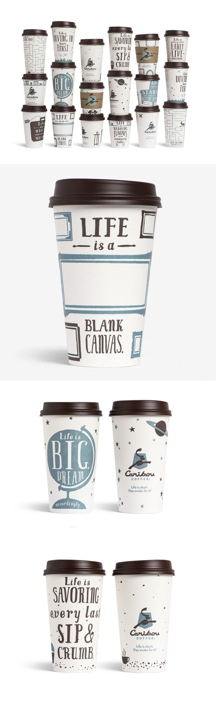 Caribou.  Potential to customise coffee cups, or create useable infographics on cups for making drinks - JB