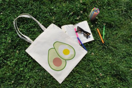 Avokado & Yumurta İlüstrasyon Bez Çanta