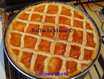 Crostata con marmellata di albicocche al microonde
