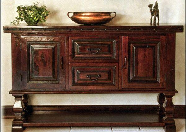 mancini rustic hacienda style dining room furniture at