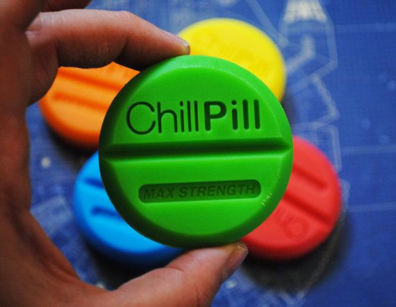 4 x Handmade Large Chill Pill Soap  Novelty gag soap by NerdySoap