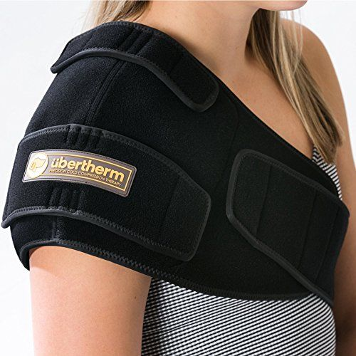übertherm Shoulder Pain Relief Cold Wrap / Compression Ice Pack: New Ice Pillow Technology for Sting-Free Cold Therapy; Select RIGHT or LEFT shoulder  COLD RE-INVENTED -- Thermal regulated for gradual, healing cold without ice burned skin.  MULTI-USE - Sports Icing / Tendinitis, Bursitis, Rotator Cuff, Physical Therapy, Surgical Pain.  FOR MEN AND WOMEN -- One size fits all. Adjustable cold intensity. Contoured fit.  WORKMANSHIP - Made with pride of finest materials. Lasts for years. U...