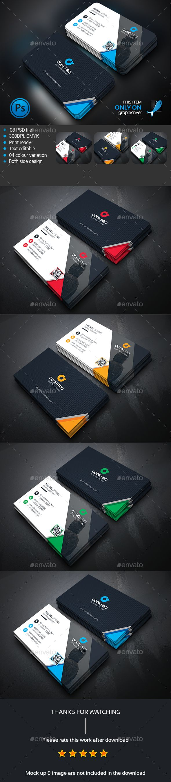 Business Card  — PSD Template #all #black • Download ➝ https://graphicriver.net/item/business-card/14265633?ref=pxcr