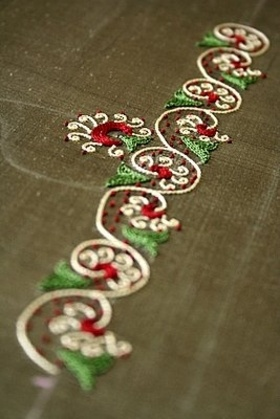 scroll embroidery