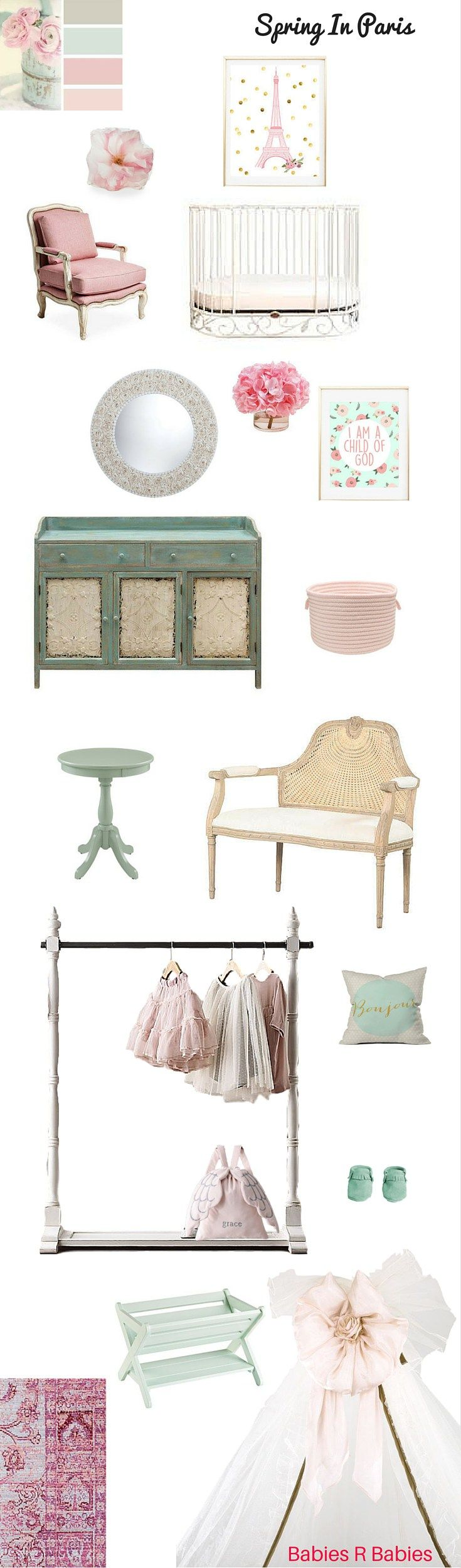 Spring in Paris.A baby nursery design inspired by the allure of spring time in Paris.#SpringinParis