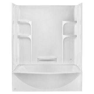 Tub and Shower Walls - Ovation Curved 3 Piece Bathtub Wall Set - Arctic