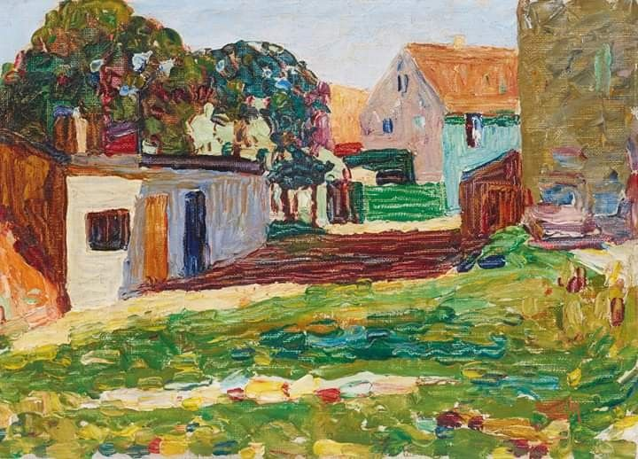 Wassily Kandinsky Schwabing Das Weisse Haus Painted In Munich In 1901 Oil On Canvasboard 23 5 X 32 5 Cm Private Colle En 2020 Mug Design Beautiful Inspiration Design