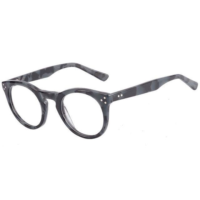 Kirka Round Eyewear Frames Optical Myopia Clear Lens Glasses Frame Female Hipster Vintage Spectacle Frame with the rivet