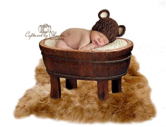 Newborn Baby Boy Hat 0 to 1 Months Baby Boy by ChunkyMonkeyBeanies, $22