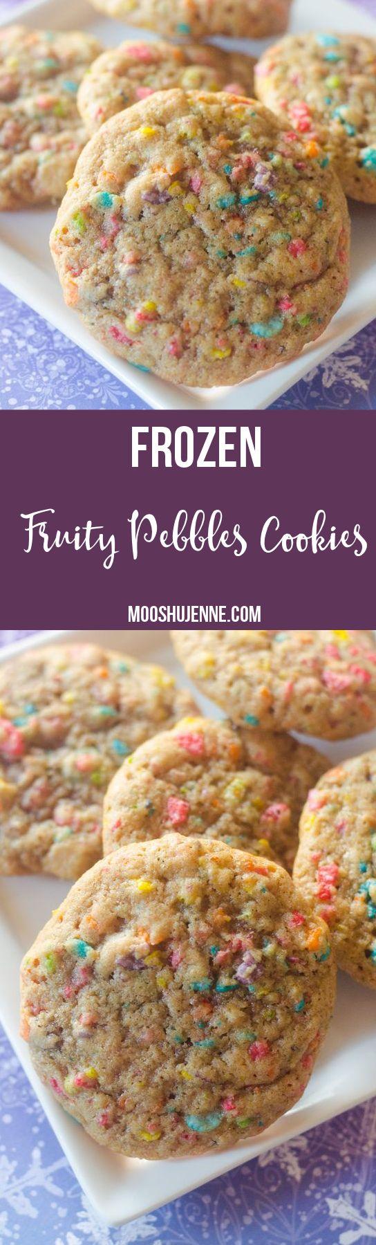 Frozen Fruity Pebbles Cookies