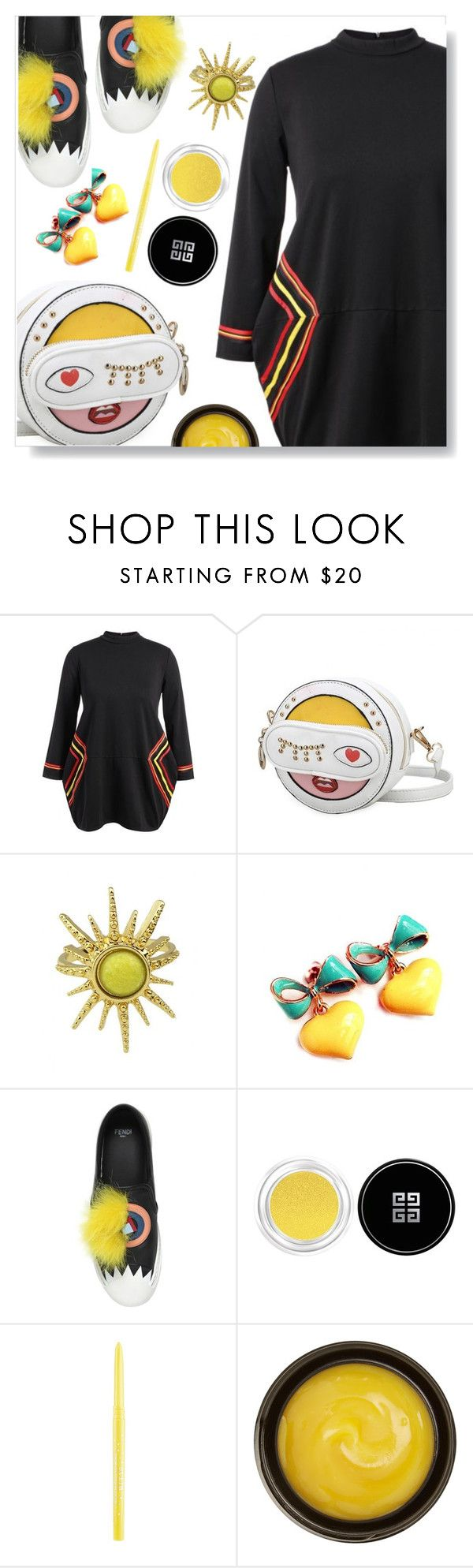 """""""Baggy dress"""" by simona-altobelli ❤ liked on Polyvore featuring Fendi, Givenchy, Stila and de Mamiel"""