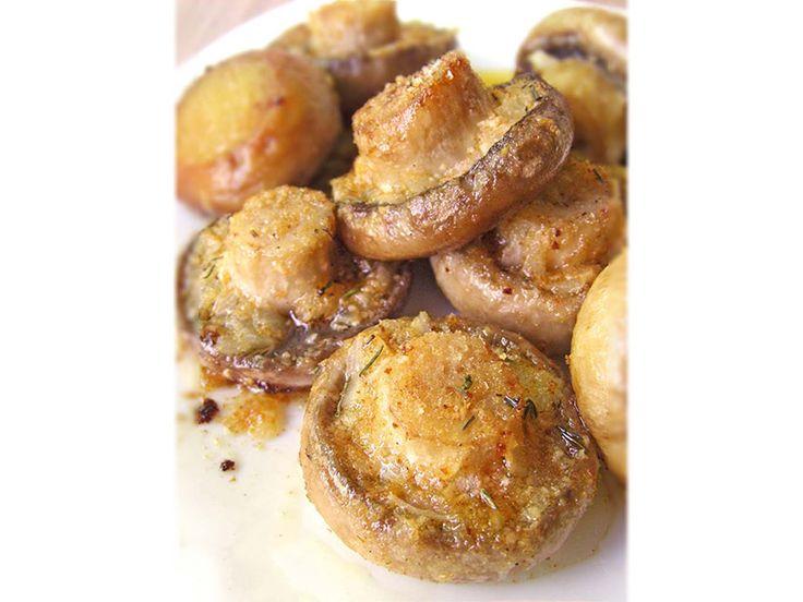 Ψητά μανιτάρια στο φούρνο με τραγανή κρούστα