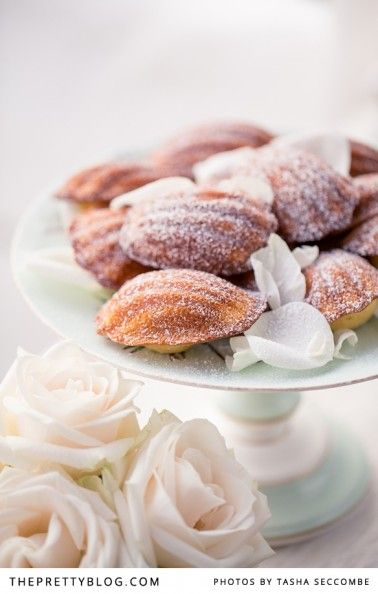 Rosewater Madeleines | Recipe, testing & preparation: The Food Fox, Photography: @Tasha Seccombe