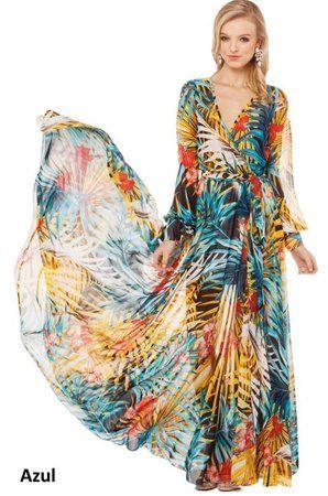 Vestido Flor Tropical Print