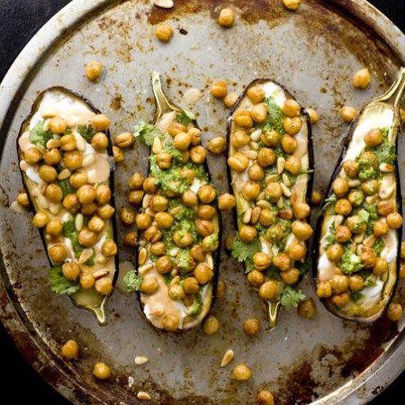 ... and Cilantro Pesto   Recipe   Eggplants, Chickpeas and Cilantro