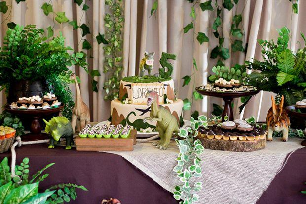decoração festa dinossauro - Pesquisa Google