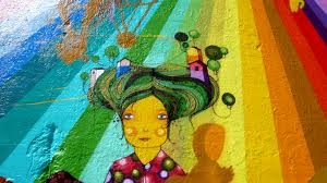 colourful art : Os Gemeos is a street art duo from Brazil who create amazing colourful art