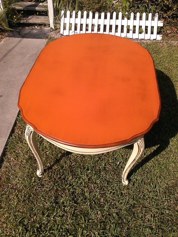 French Provincial Table Barcelona Orange by RightUpMyAlleyDesign, $475.00