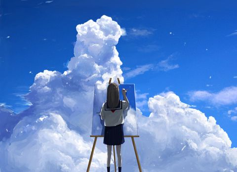 Al ser un pintor demuestras lo que no puedes expresar con palabras   -M.A.A.