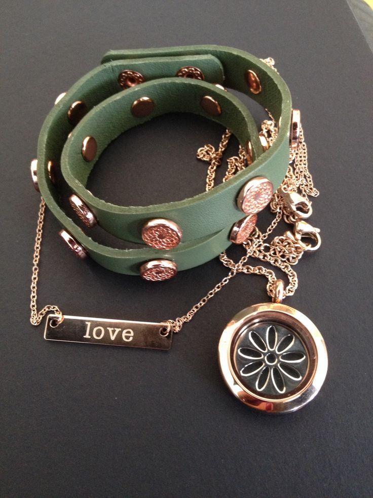 Rose gold bracelet and necklaces