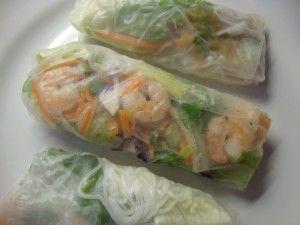 Rice Paper Wraps with Shrimp (Thai Cuisine)