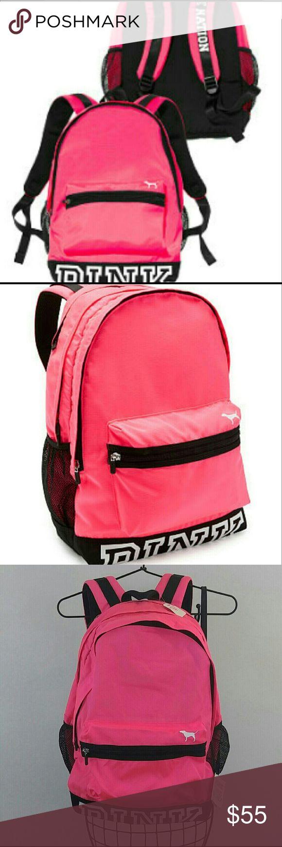 New Victoria's Secret PINK backpack school bag Victoria's Secret Pink backpack  New  Neon pink PINK Victoria's Secret Other