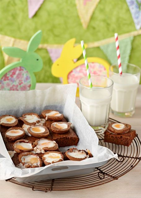 Have some #Easter fun with these easy #chocolate #brownies. #baking To view the #CADBURY product featured in this recipe visit https://www.cadburykitchen.com.au/products/view/baking-block/