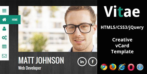 Vitae - Responsive HTML5 vCard Template