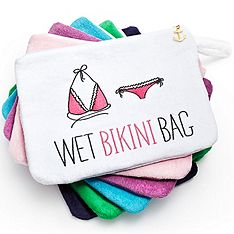 Cute Bridesmaids Gift! The perfect solution for toting around a damp swimsuit after a day at the beach, pool or spa. $14.99 Sale ends 5/1/12 #knotbmg