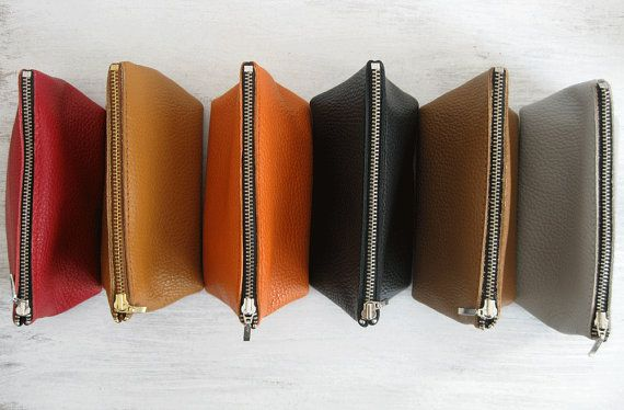 LEATHER POUCH Pouch Leather Leather Clutch Clutch Purse