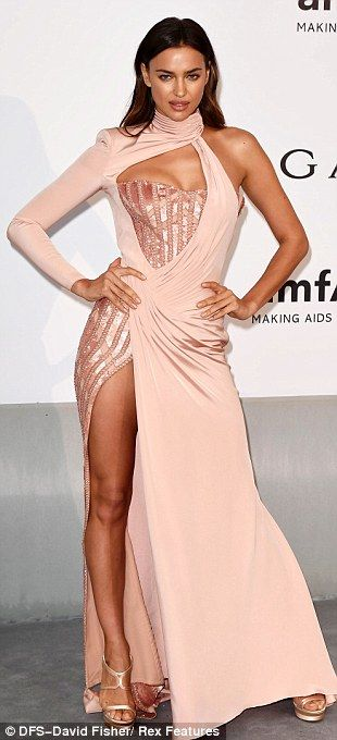 Irina Shayk  at the amfAR Cinema Against AIDS gala held at the famous Hotel du Cap-Eden-Roc on Thursday evening.