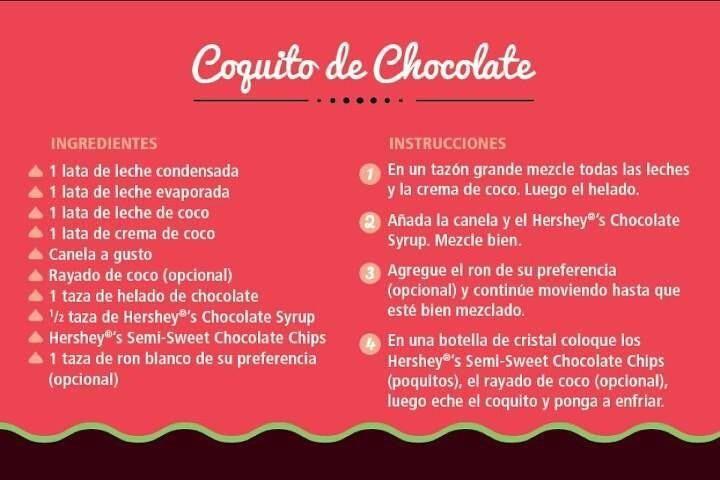 Coquito de #chocolate #Hersheys