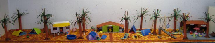 camping speeltafel 01 Nutsschool Maastricht. Gemaakt met playmobil.