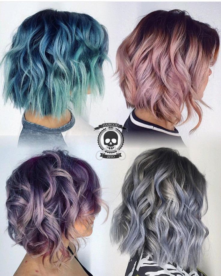 """""""Plz VOTE! Rickey Zito @hairgod_zito has created 4 metallic lobs. Which one is your favorite? #hotonbeauty #hothairvids"""""""