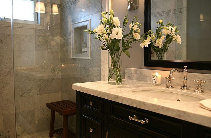 Jeff Lewis Design Gorgeous Sophisticated Bathroom Design