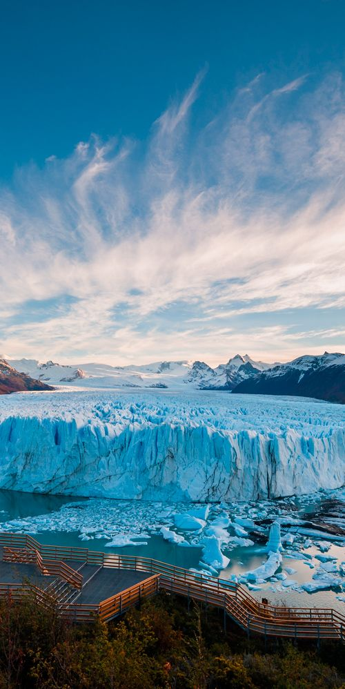 The most famous glacier in Los Glaciares National Park is the Perito Moreno Glacier, Argentina