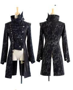 punk fashion for women | WOMEN-MEN-fashion-punk-gothic-rock-black-long
