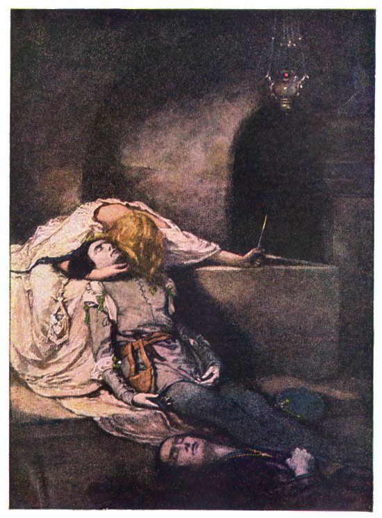 the deaths of romeo and juliet in william shakespeares play Death and sex are linked throughout the entire play (which you can read more about in symbols) and juliet does say that ingesting poison by kissing romeo's lips would make [her] die with a restorative (53171.