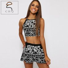 Women Two Pieces Backless Spaghetti Strap Halter Elephant Animal Geometric Aztec Prints Crop Top with High Waist Shorts     Tag a friend who would love this!     FREE Shipping Worldwide     #Style #Fashion #Clothing    Get it here ---> http://www.alifashionmarket.com/products/women-two-pieces-backless-spaghetti-strap-halter-elephant-animal-geometric-aztec-prints-crop-top-with-high-waist-shorts/