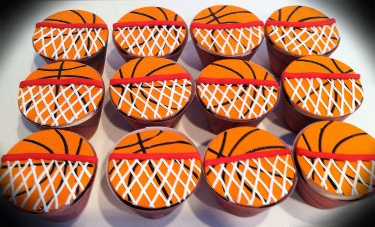 Basketball cupcakes - by Skmaestas @ CakesDecor.com - cake decorating website