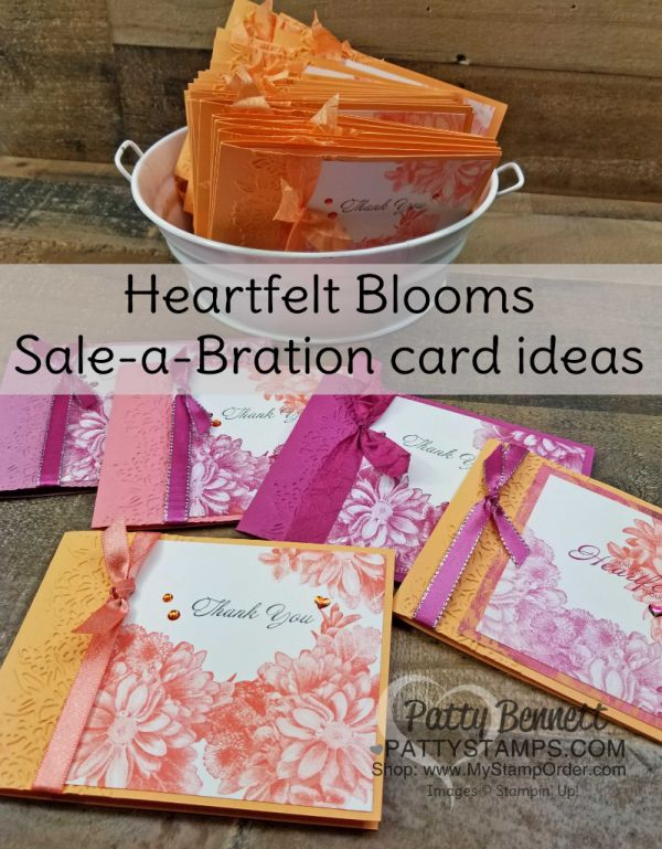 Heartfelt Blooms Sale-a-Bration stamped card ideas